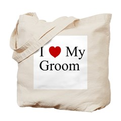I (heart) My Groom Tote Bag