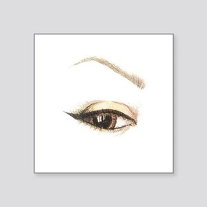 """Brown Eye and Brow Square Sticker 3"""" x 3"""""""