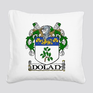 Dolan Coat of Arms Square Canvas Pillow