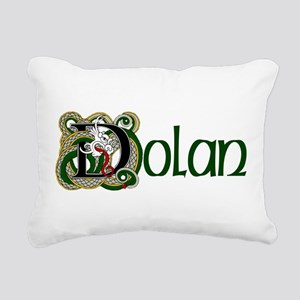 Dolan Celtic Dragon Rectangular Canvas Pillow