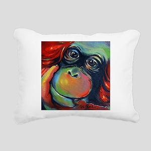 Orangutan Sam Rectangular Canvas Pillow