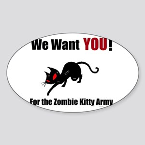 Zombie Kitty Army Sticker