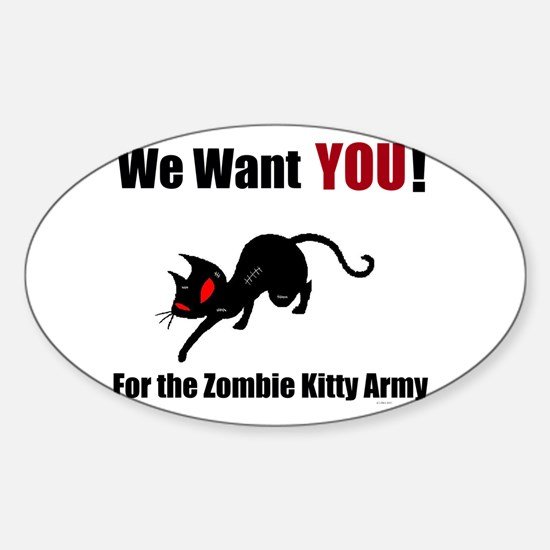 Zombie Kitty Army Decal