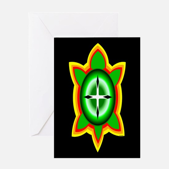 SOUTHEASTERN TRIBAL TURTLE Greeting Card
