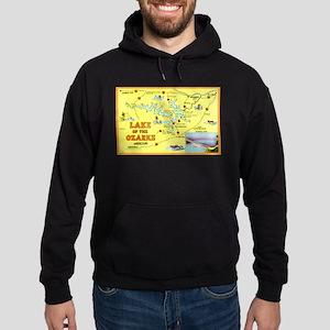 Lake of the Ozarks Map Hoodie (dark)