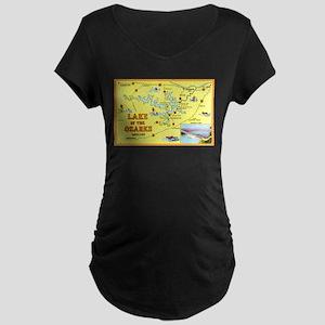 Lake of the Ozarks Map Maternity Dark T-Shirt