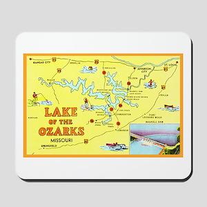 Lake of the Ozarks Map Mousepad