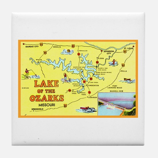 Lake of the Ozarks Map Tile Coaster