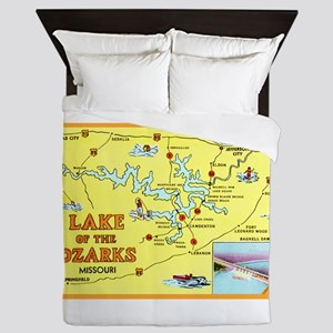 Lake of the Ozarks Map Queen Duvet