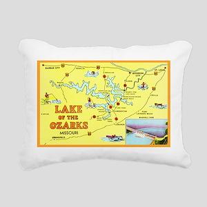 Lake of the Ozarks Map Rectangular Canvas Pillow