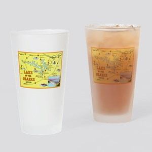 Lake of the Ozarks Map Drinking Glass