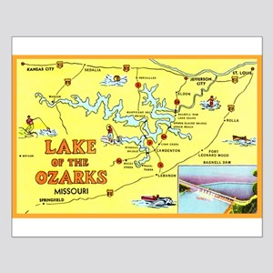 Lake of the Ozarks Map Small Poster
