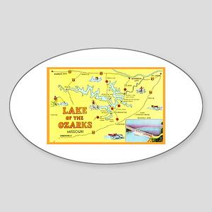 Lake of the Ozarks Map Sticker (Oval)