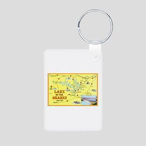 Lake of the Ozarks Map Aluminum Photo Keychain