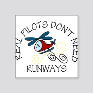 """Real Pilots Square Sticker 3"""" x 3"""""""
