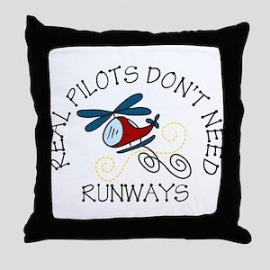 Real Pilots Throw Pillow