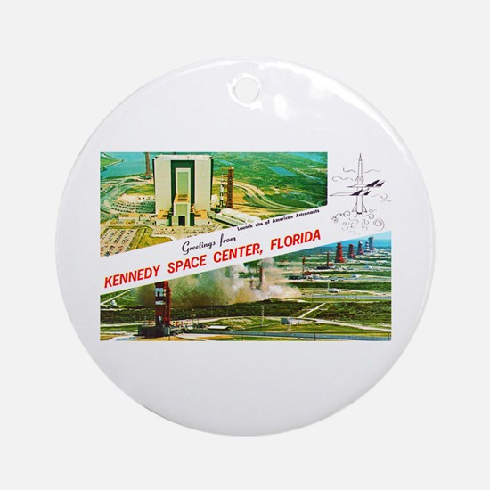 Kennedy Space Center Florida Ornament (Round)