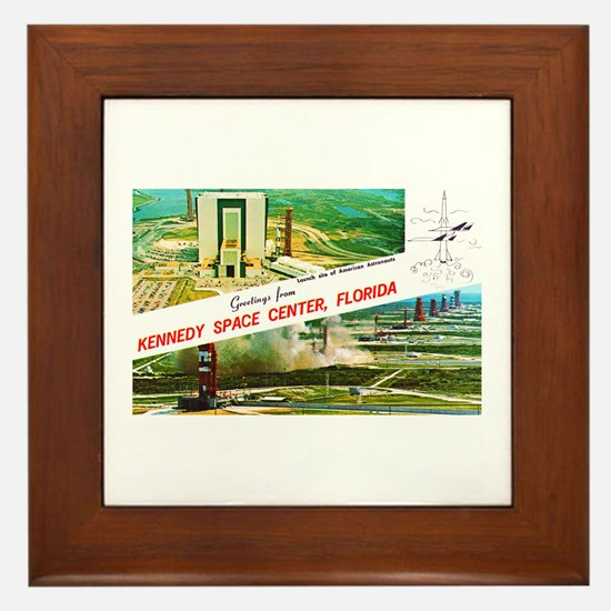 Kennedy Space Center Florida Framed Tile