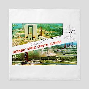 Kennedy Space Center Florida Queen Duvet