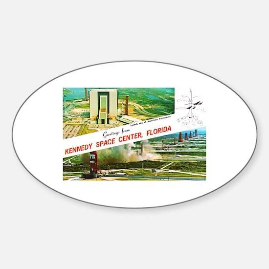 Kennedy Space Center Florida Sticker (Oval)