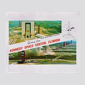 Kennedy Space Center Florida Throw Blanket