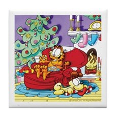WAITING FOR SANTA! Tile Coaster