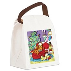 WAITING FOR SANTA! Canvas Lunch Bag