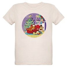 WAITING FOR SANTA! Organic Kids T-Shirt