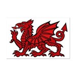 Red Welsh Dragon Mini Poster Print