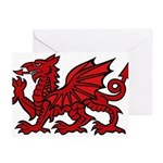 Red Welsh Dragon Greeting Cards (Pk of 10)