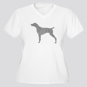 Line Weim Women's Plus Size V-Neck T-Shirt