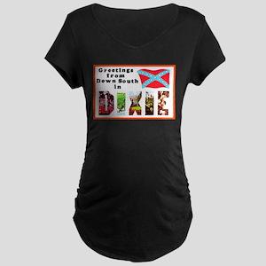 Dixie Southern Greetings Maternity Dark T-Shirt
