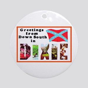 Dixie Southern Greetings Ornament (Round)