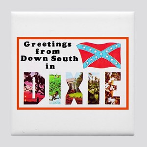 Dixie Southern Greetings Tile Coaster