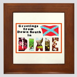 Dixie Southern Greetings Framed Tile
