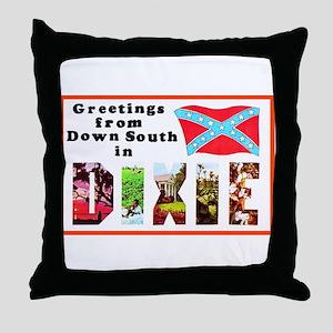 Dixie Southern Greetings Throw Pillow