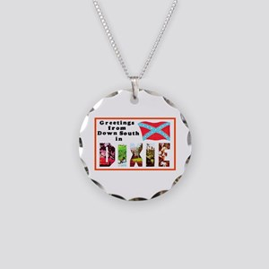 Dixie Southern Greetings Necklace Circle Charm