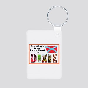 Dixie Southern Greetings Aluminum Photo Keychain