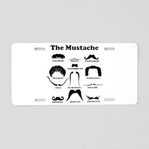 The Mustache Aluminum License Plate