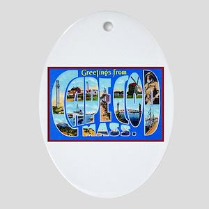 Cape Cod Massachusetts Ornament (Oval)