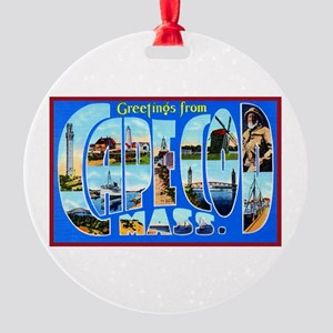 Cape Cod Massachusetts Round Ornament
