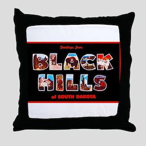 Black Hills South Dakota Throw Pillow