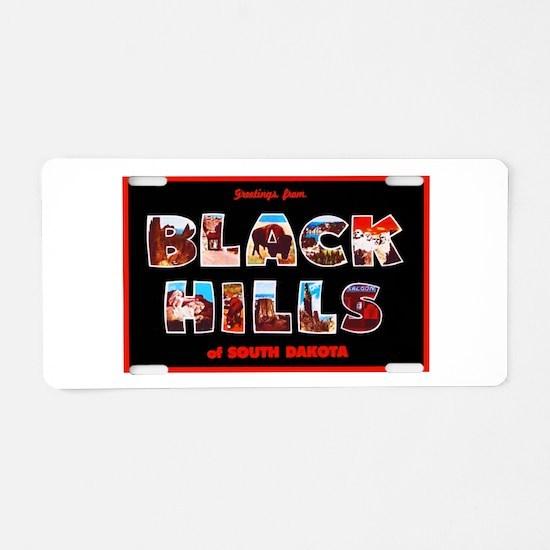 Black Hills South Dakota Aluminum License Plate