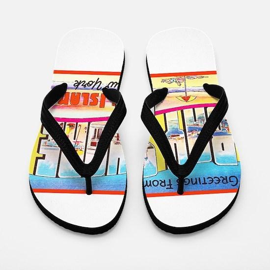 Bay Shore Long Island Flip Flops