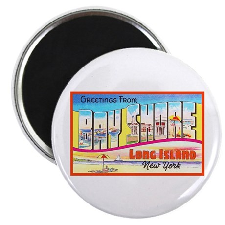 "Bay Shore Long Island 2.25"" Magnet (10 pack)"