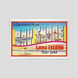 Bay Shore Long Island Rectangle Magnet