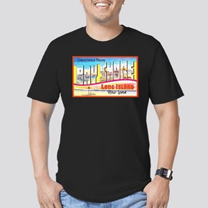 Bay Shore Long Island Men's Fitted T-Shirt (dark)