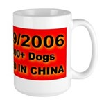 50,000+ Dogs Killed In China Large Mug
