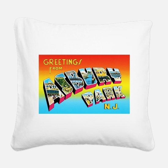 Asbury Park New Jersey Square Canvas Pillow