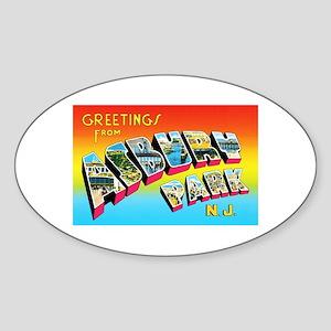 Asbury Park New Jersey Sticker (Oval)